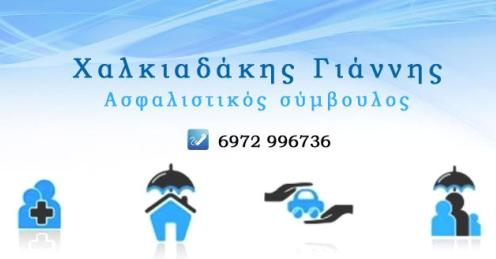 ΑΣΦΑΛΙΣΤΙΚΟΣ ΣΥΜΒΟΥΛΟΣ - ΧΑΛΚΙΑΔΑΚΗΣ